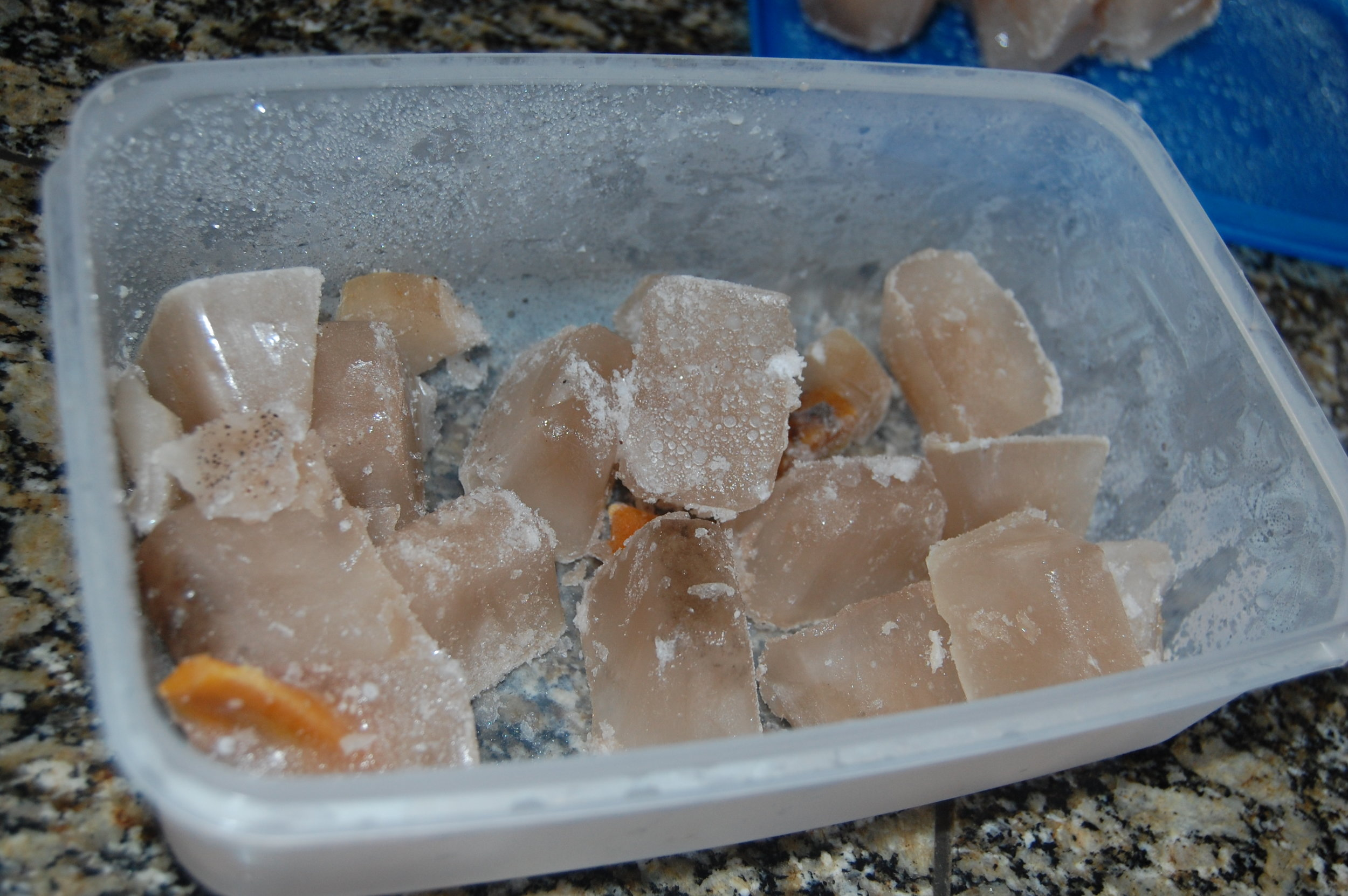 Release the cubes from the tray and store in stackable containers in your freezer. Take out only what you need for rapid thawing.