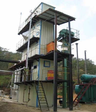 Biomass gasification for DME, 1000 tonnes/year production