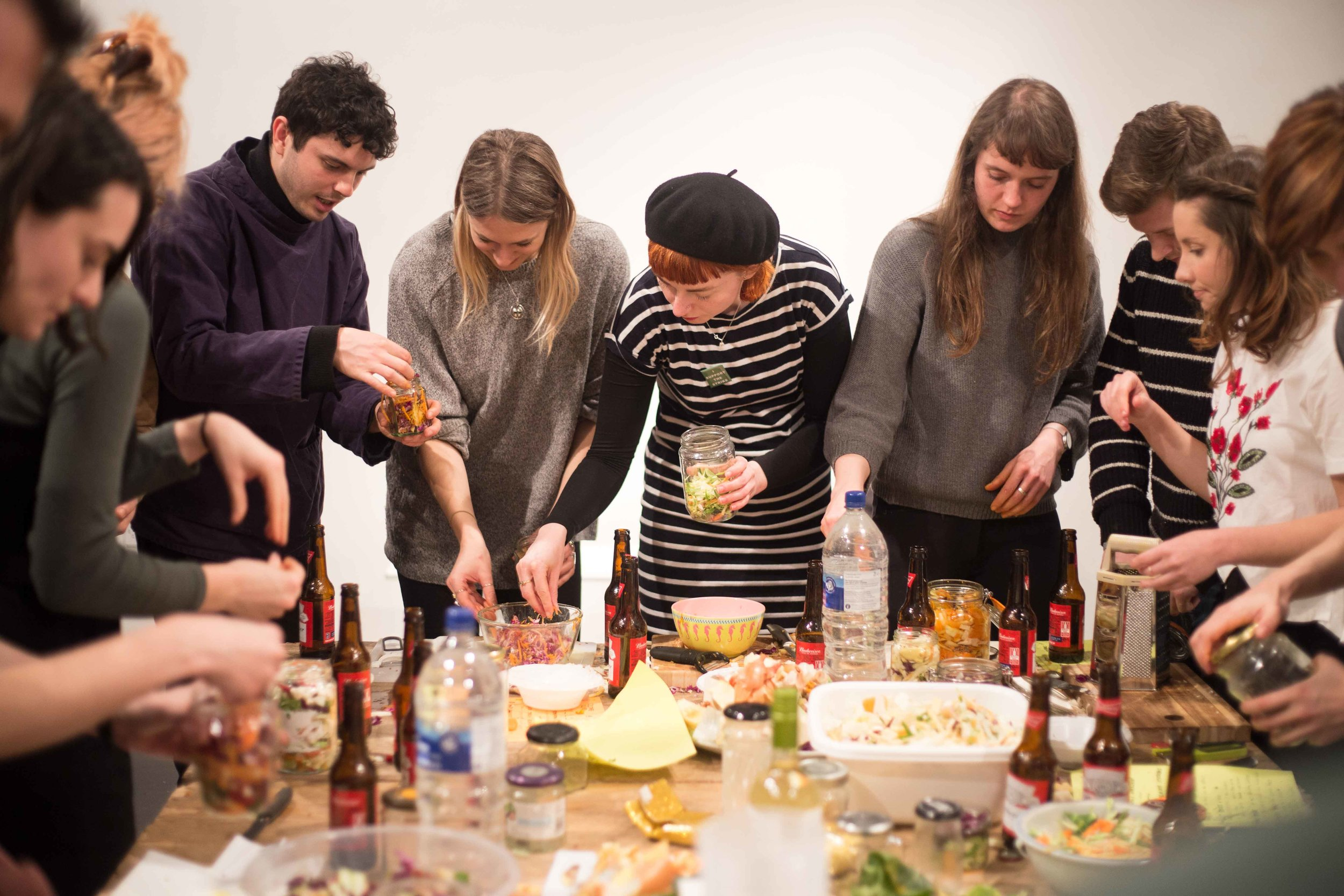 CultureClub: Lactofermenting Workshop with Sean Roy Parker, image courtesy of Peter Martin.