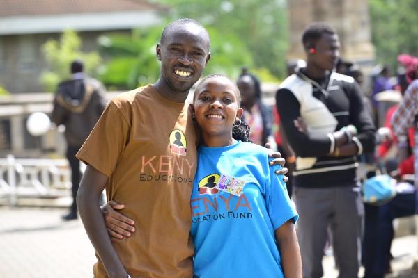 Farida with KEF staff Geoffrey at C.R.E.W. Workshop