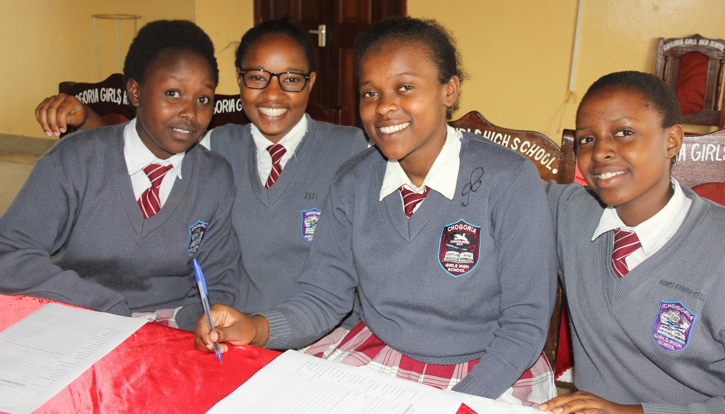 (KEF scholars at Chogoria girls' high school - a national school)
