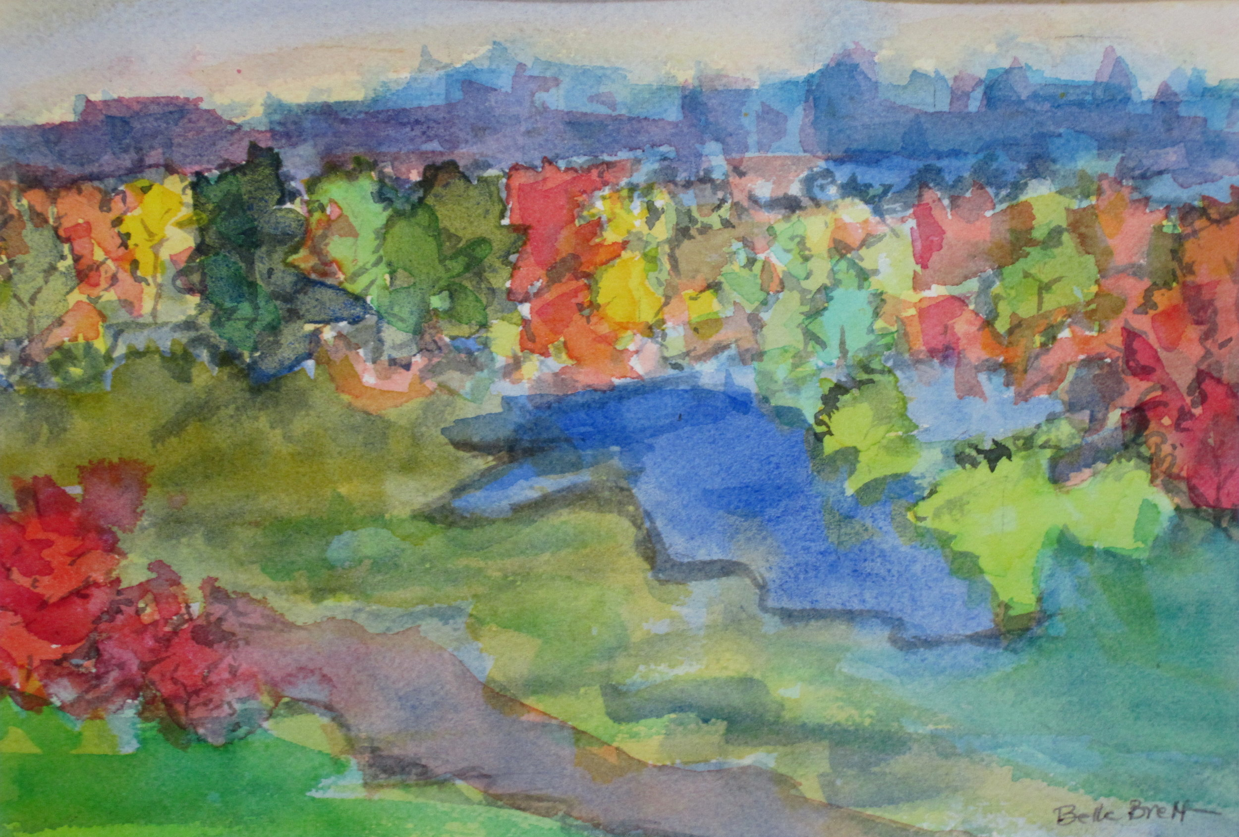 """View over the Park (Fall)"""