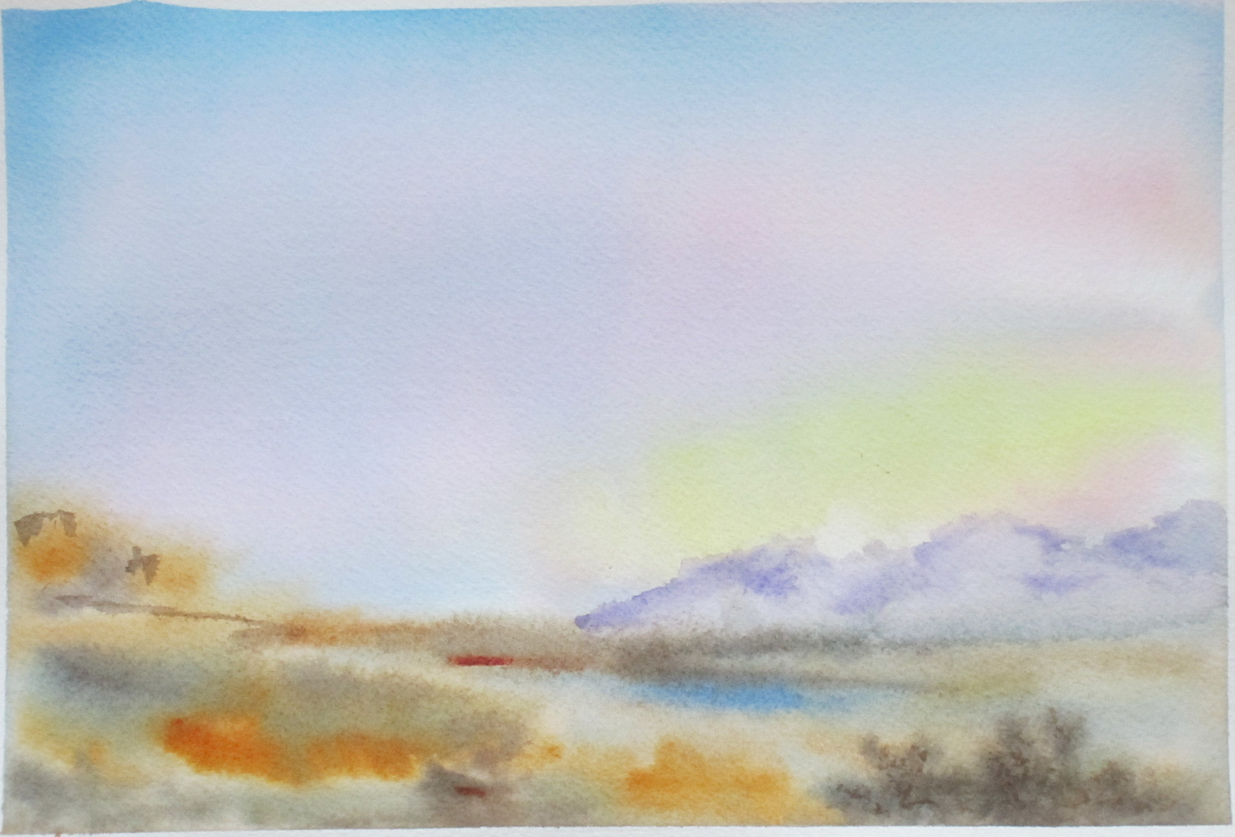 Awash with Light (watercolor)