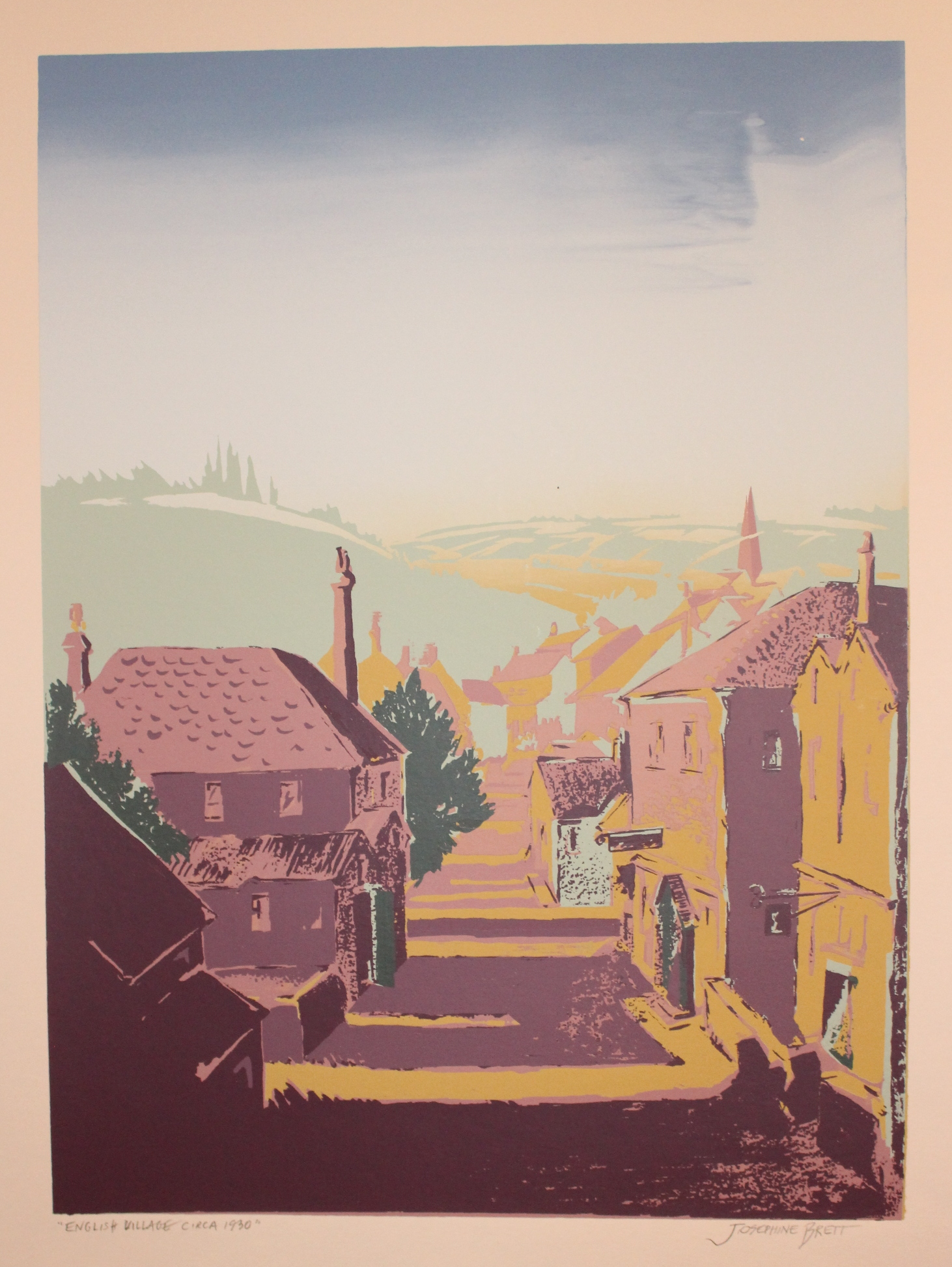 English Village, circa 1930, screenprint.jpg