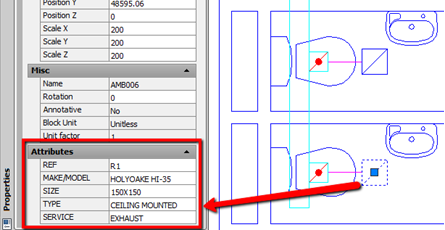"BLOCK ATTRIBUTE OF STANDARD, ""DUMB"", AUTOCAD® BLOCK"