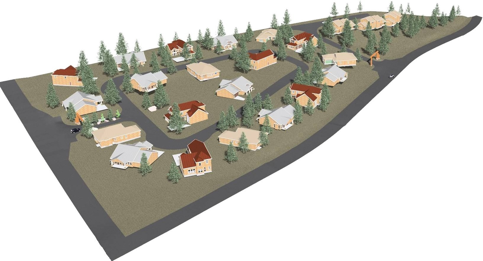 3D Model Rendering of Residential Subdivision
