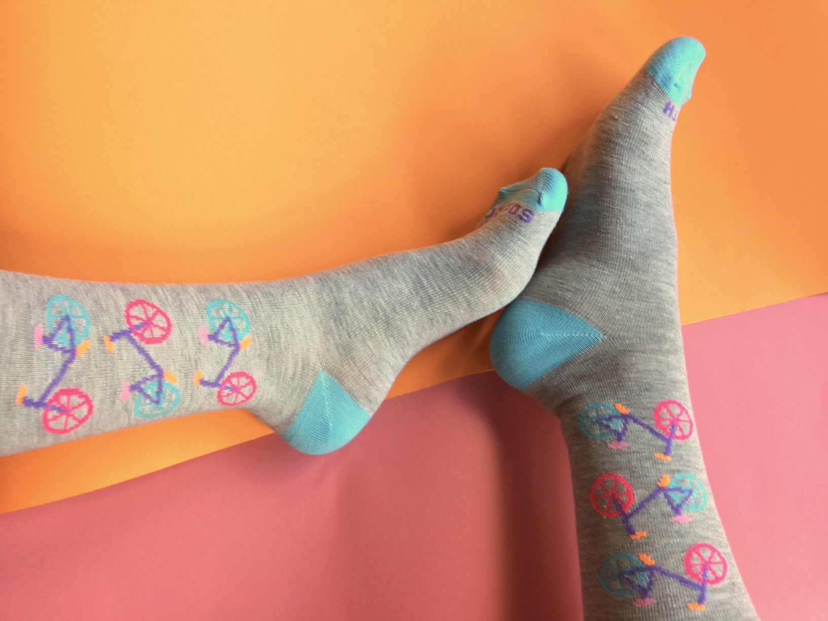 Socks with perhaps the cutest bicycle pattern I've seen! Photo Credit: The Sock Review