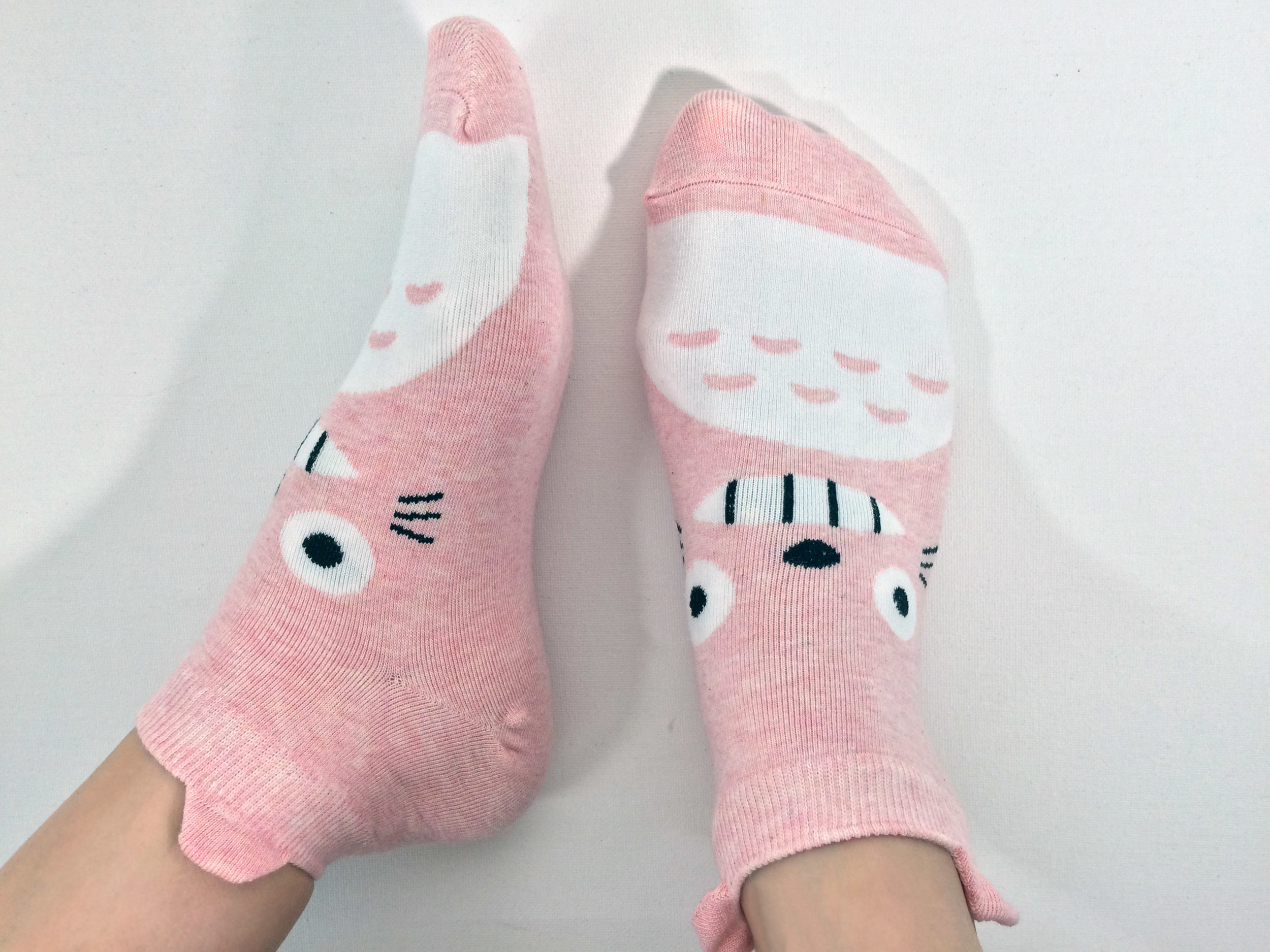 "Awesome Socks Style Featuring ""Totoro"":  Photo Credit - The Sock Review"