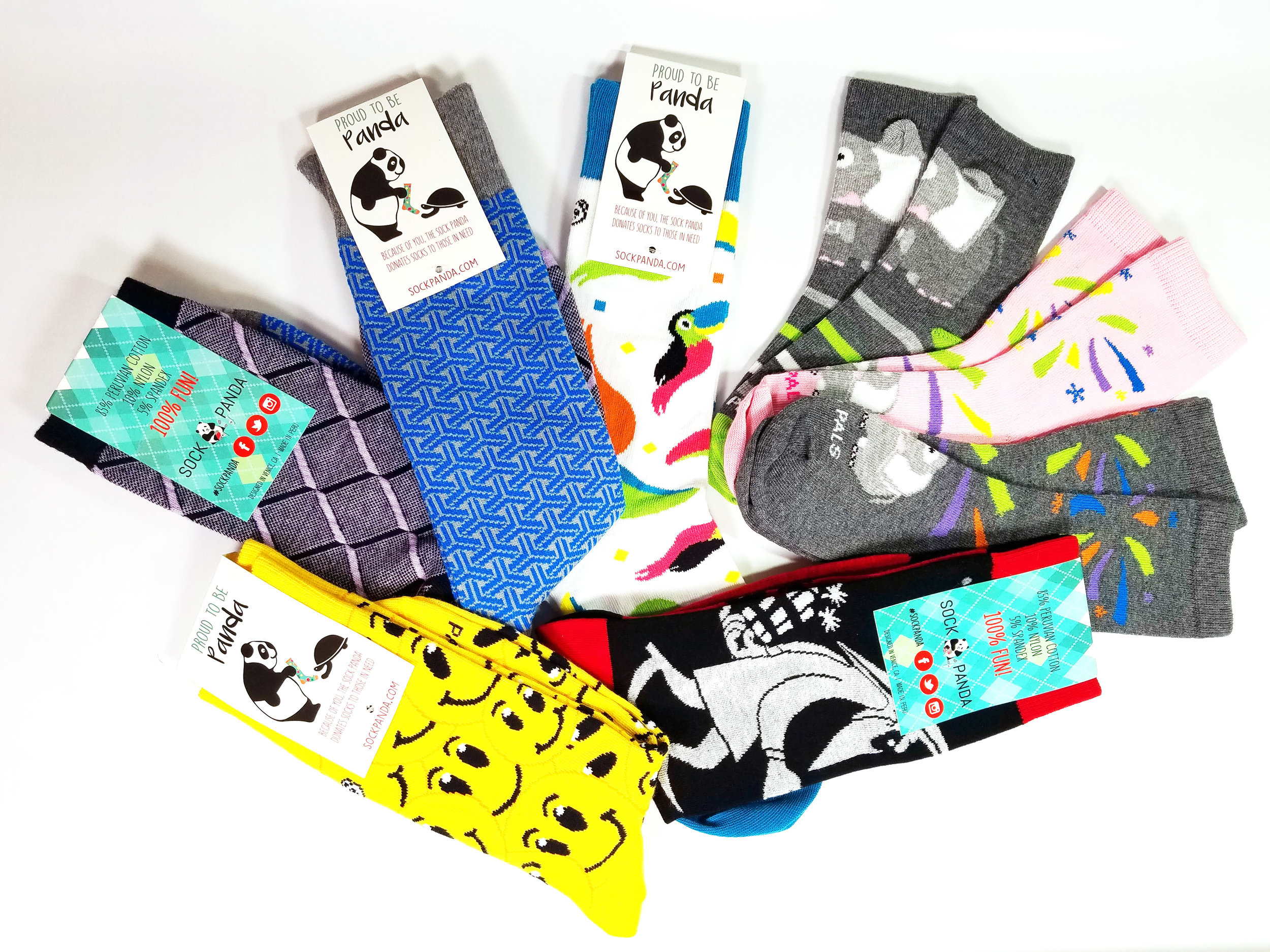 Sock Panda - Not only can you receive a gift, but you'll be giving back to others, since Sock Panda donates socks to those in need for every subscription purchased. To date, the company has donated nearly 100,000 socks to homeless shelters, hospitals, and under-privileged classrooms & low-income senior centers around the country. That's a lot of socks, and a lot of giving! Read more, here.