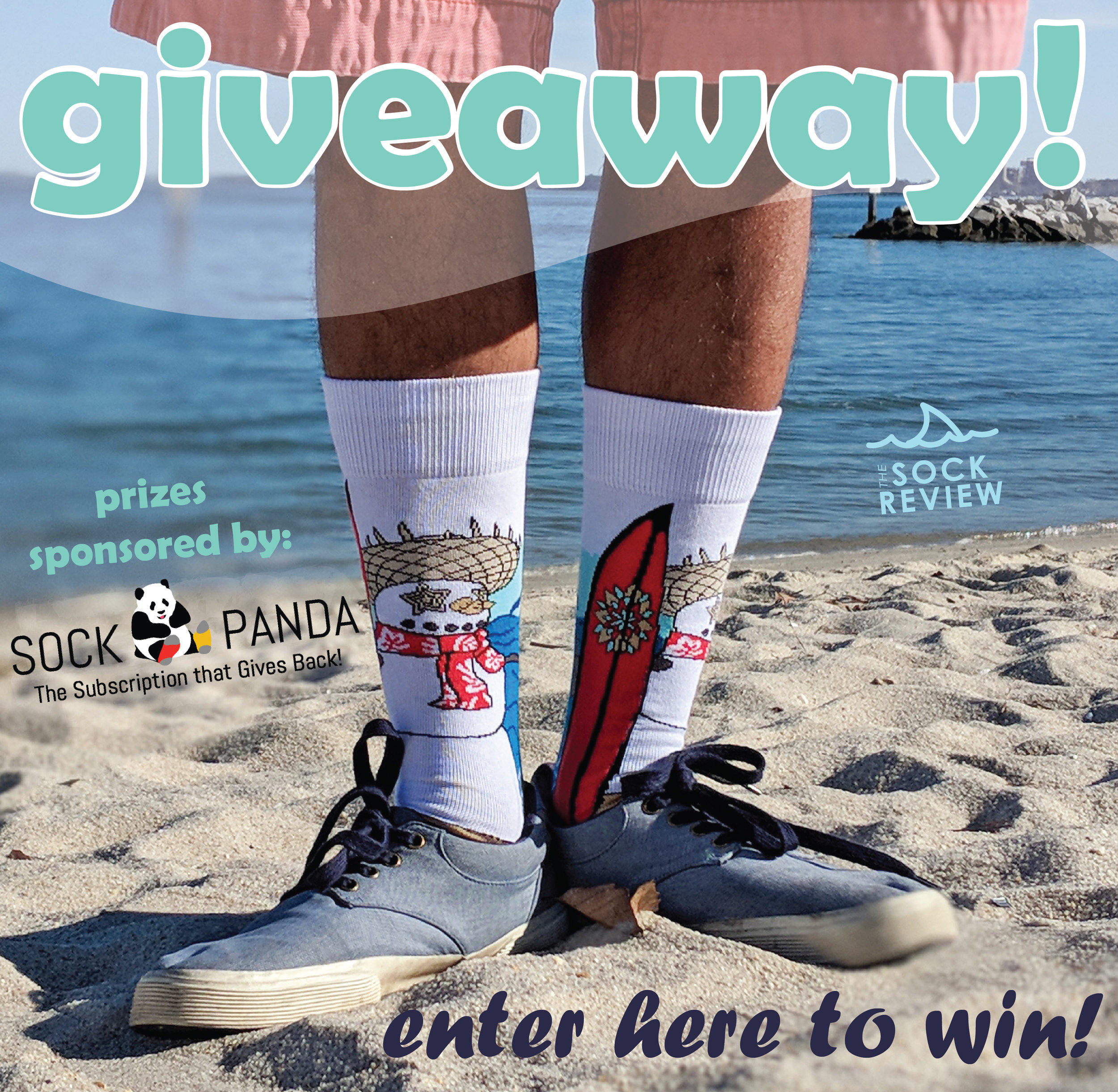 Giveaway Prizes sponsored by Sock Panda! Entries start today - head on over to Instagram to get the details.