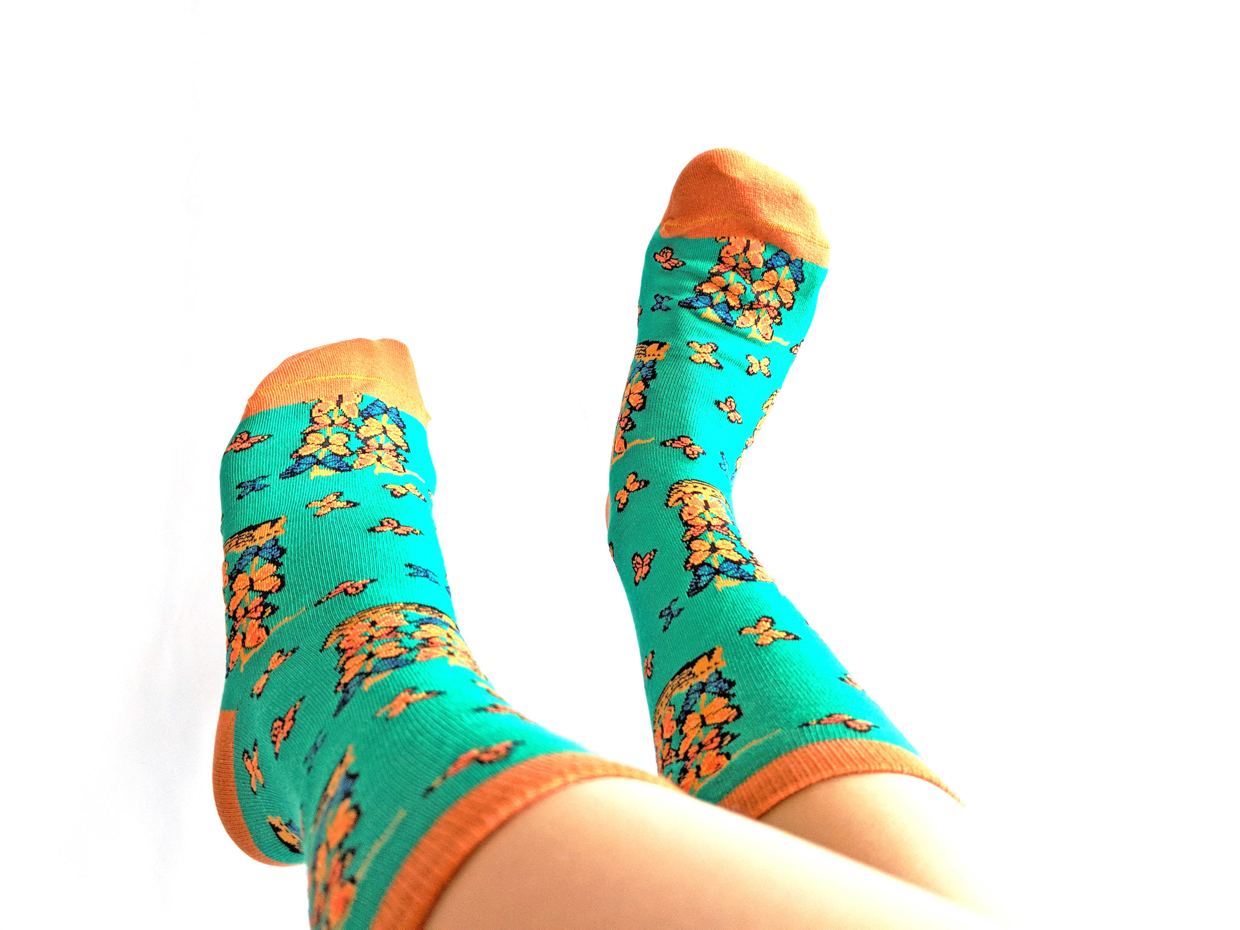 Inspired by  Ship with Butterfly Sail s by Salvador Dali, socks by Imagery Socks - Photo Credit: The Sock Review