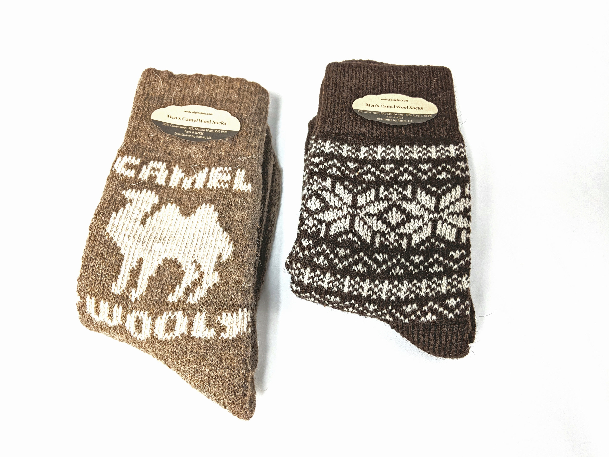 Camel Wool Socks featured in Alpine Fair's Winter Collection - Photo Credit: The Sock Review