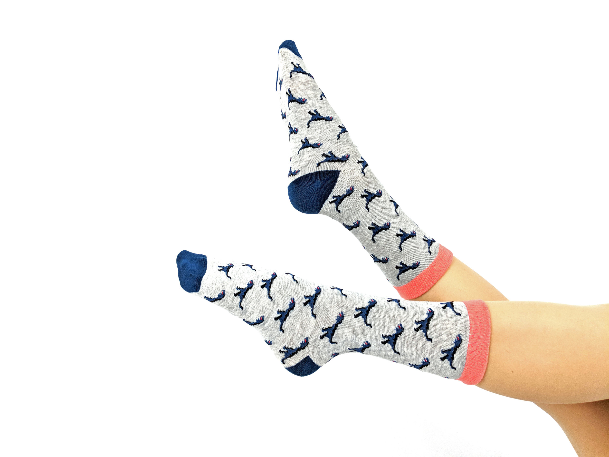 One of Say Possible's most in-demand women's style is SockASaurus, featuring a fierce T-rex (but adorable somehow...)