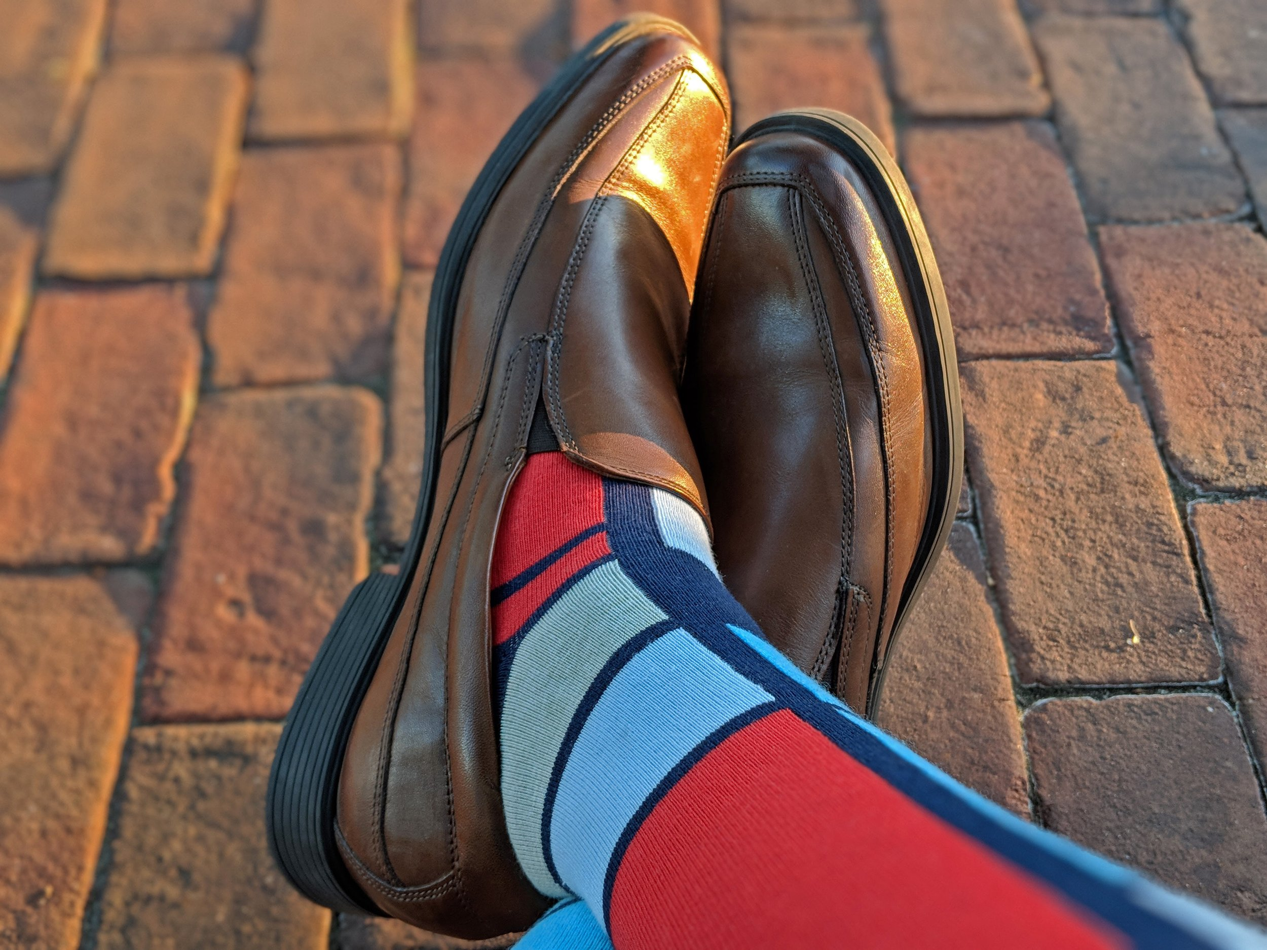 A perfect pair for the art-enthusiast is this men's 'Mondrian Socks' style. Show off your art appreciation. Photo Credit: The Sock Review