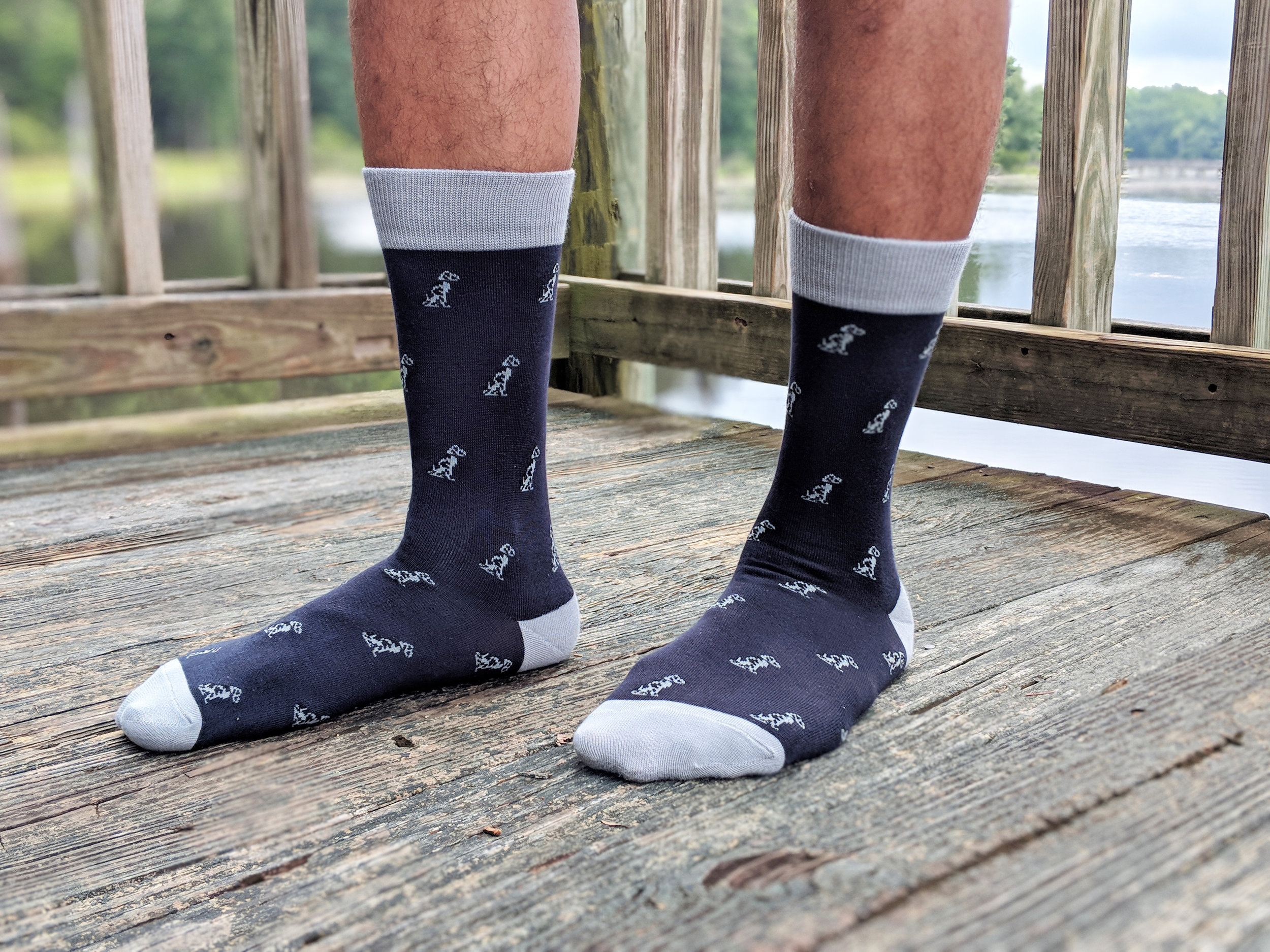 """Smith Dalmatian"" style pictured here - a weekend-worthy style, where you want to dress and feel your best. Photo Credit: The Sock Review"