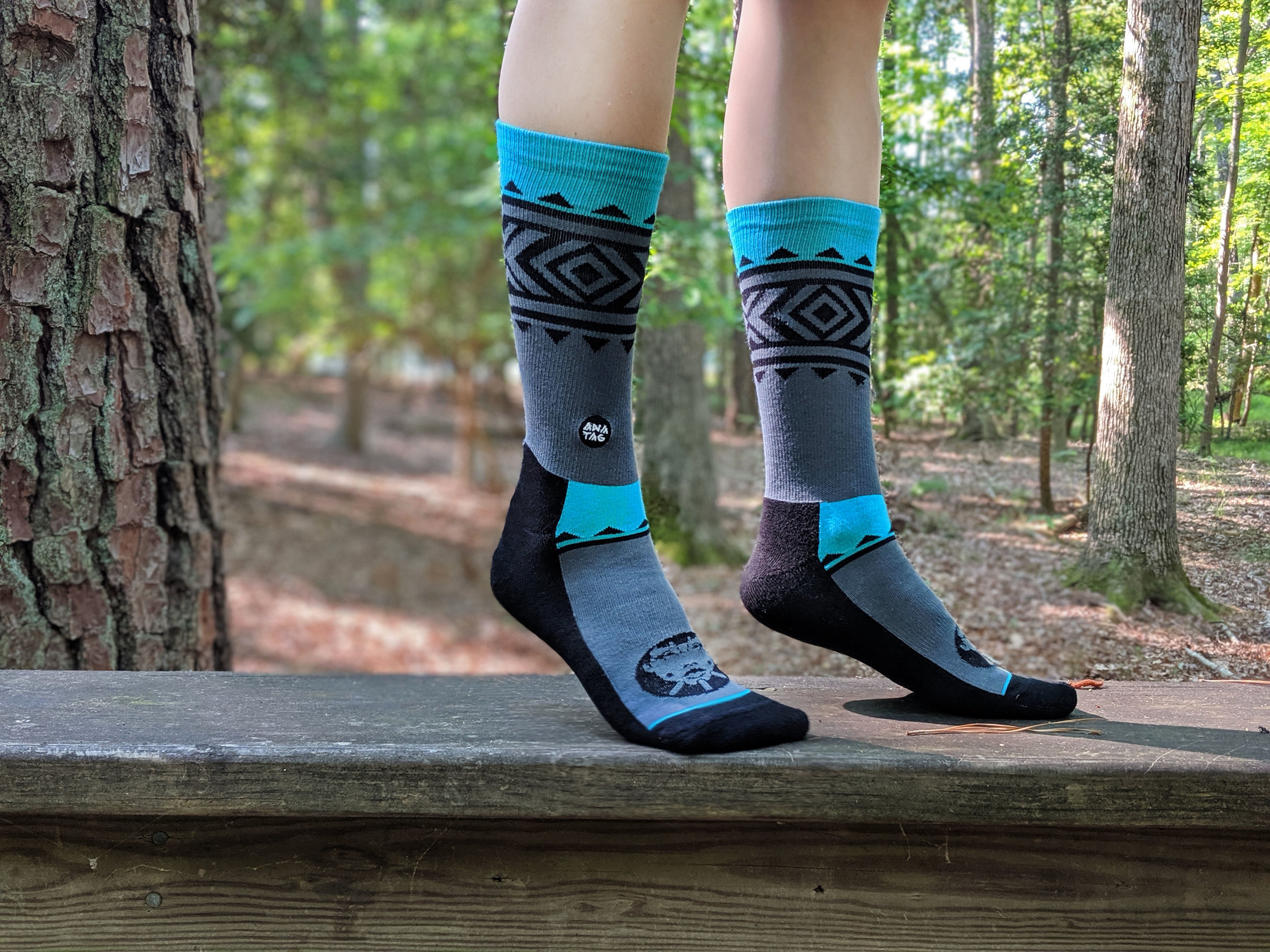 Untamed Rider from the New Beginnings Collection in Turquoise - Anatag socks make quite the natural statement!