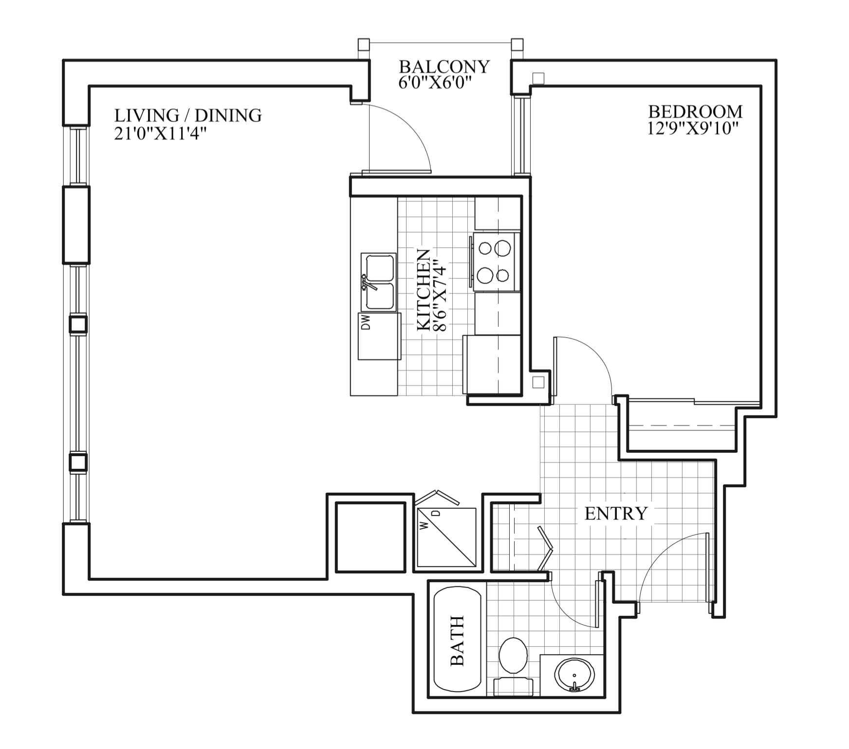 SOLD | Suite 202 | 685 sq ft