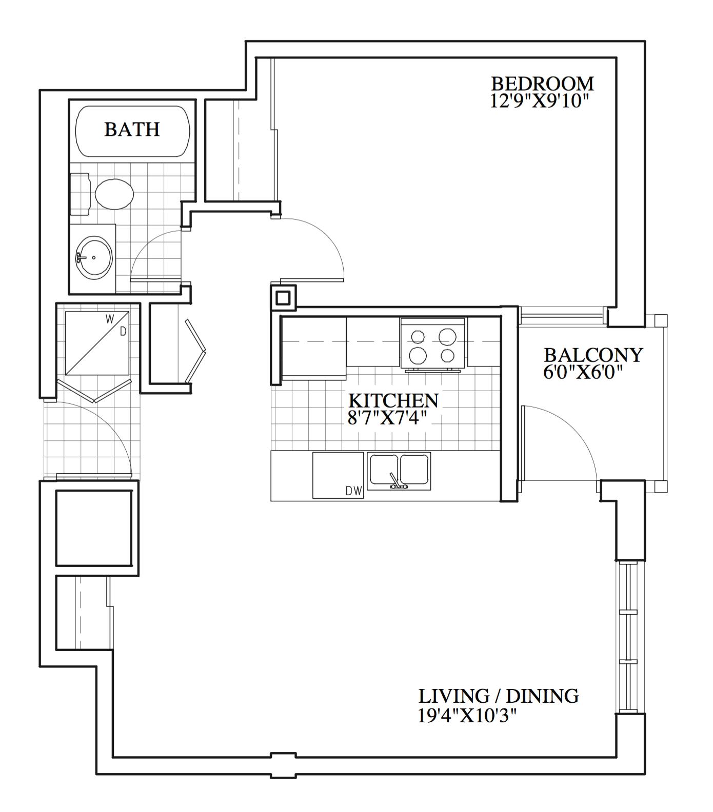 SOLD |Suite 203 | 620 sq ft