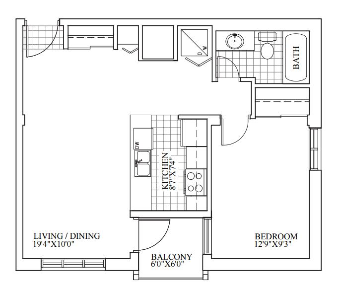 SOLD | Suite 206 | 643 sq ft