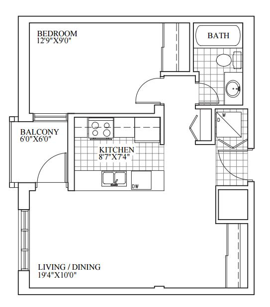 SOLD | Suite 207 | 615 sq ft