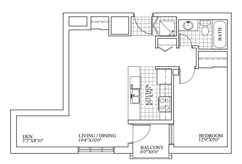 SOLD | Suite 208 | 681 sq ft