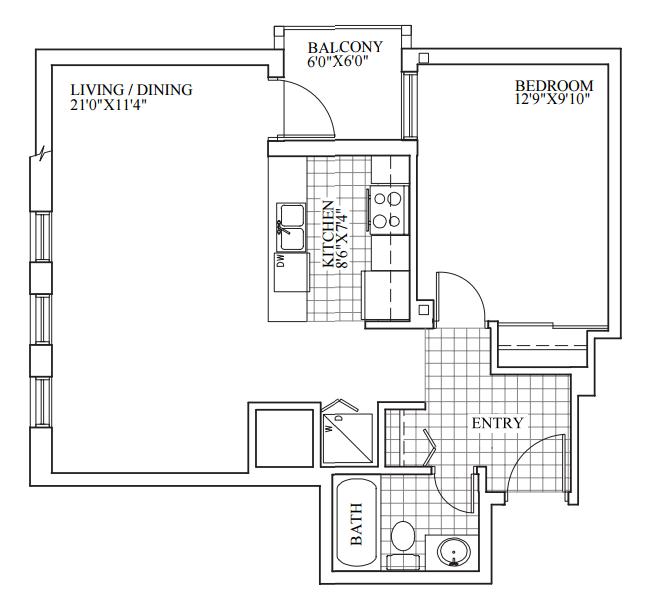 SOLD | Suite 302 | 676 sq ft
