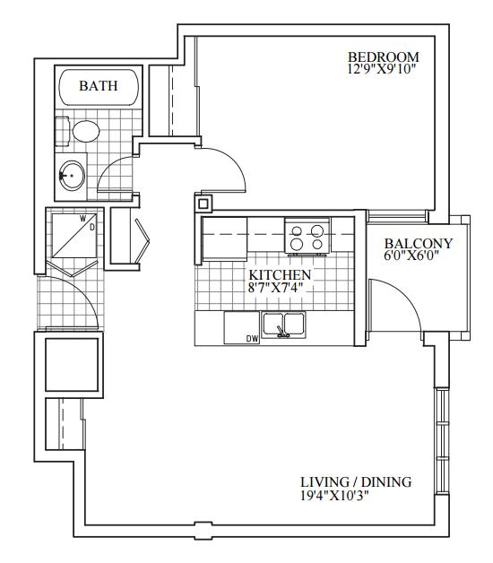 SOLD | Suite 303 | 614 sq ft