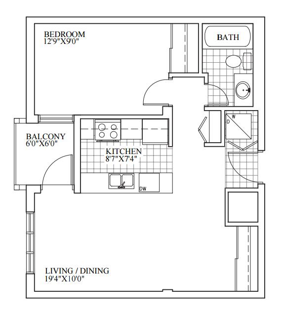 SOLD | Suite 307 | 609 sq ft