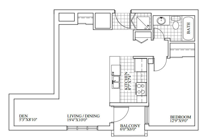 SOLD | Suite 308 | 672 sq ft