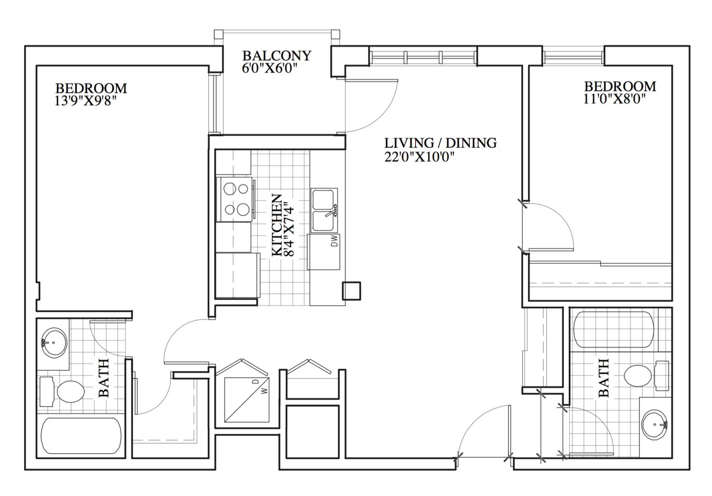 SOLD | Suite 204 | 842 sq ft