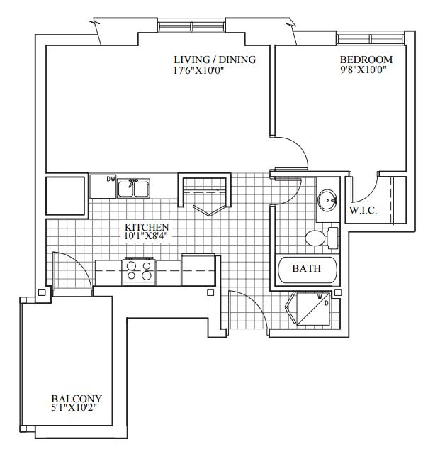 SOLD | Suite 301 | 612 sq ft