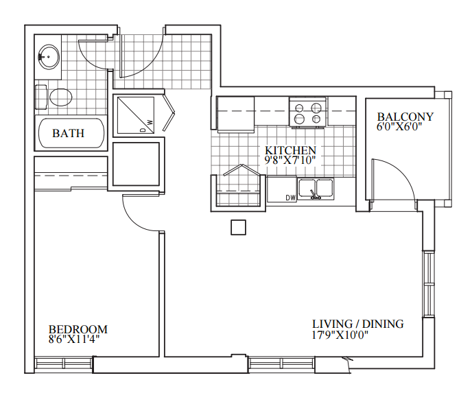 SOLD | Suite 305 | 562 sq ft