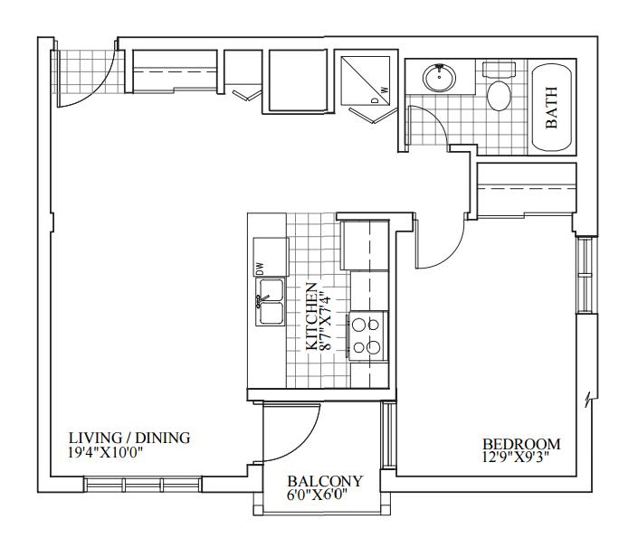 SOLD | Suite 306 | 635 sq ft