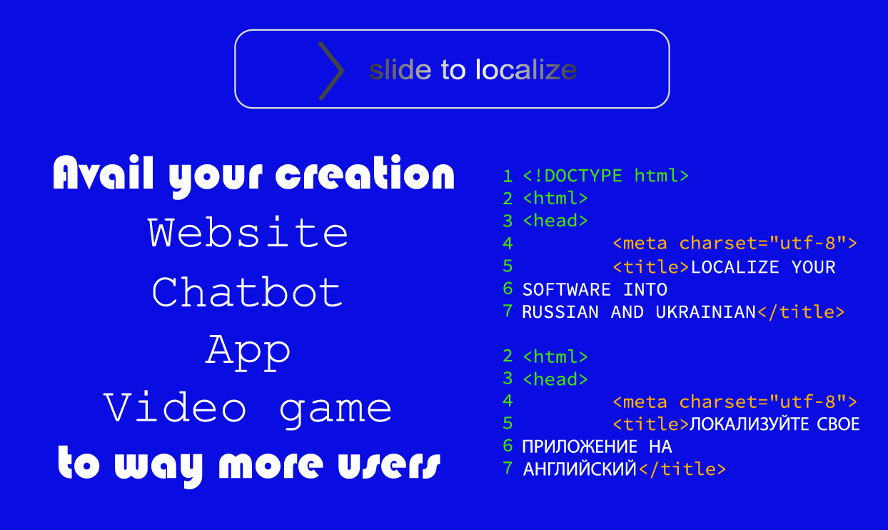 Localize a Website, App, or Video Game Into Russian & Ukrainian