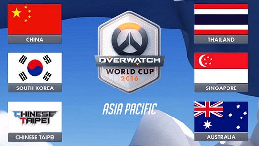 """Overwatch World Cup 2016 and 2017 also attribute Taiwan as """"Chinese Taipei,"""" just it's not even a flag of anything"""