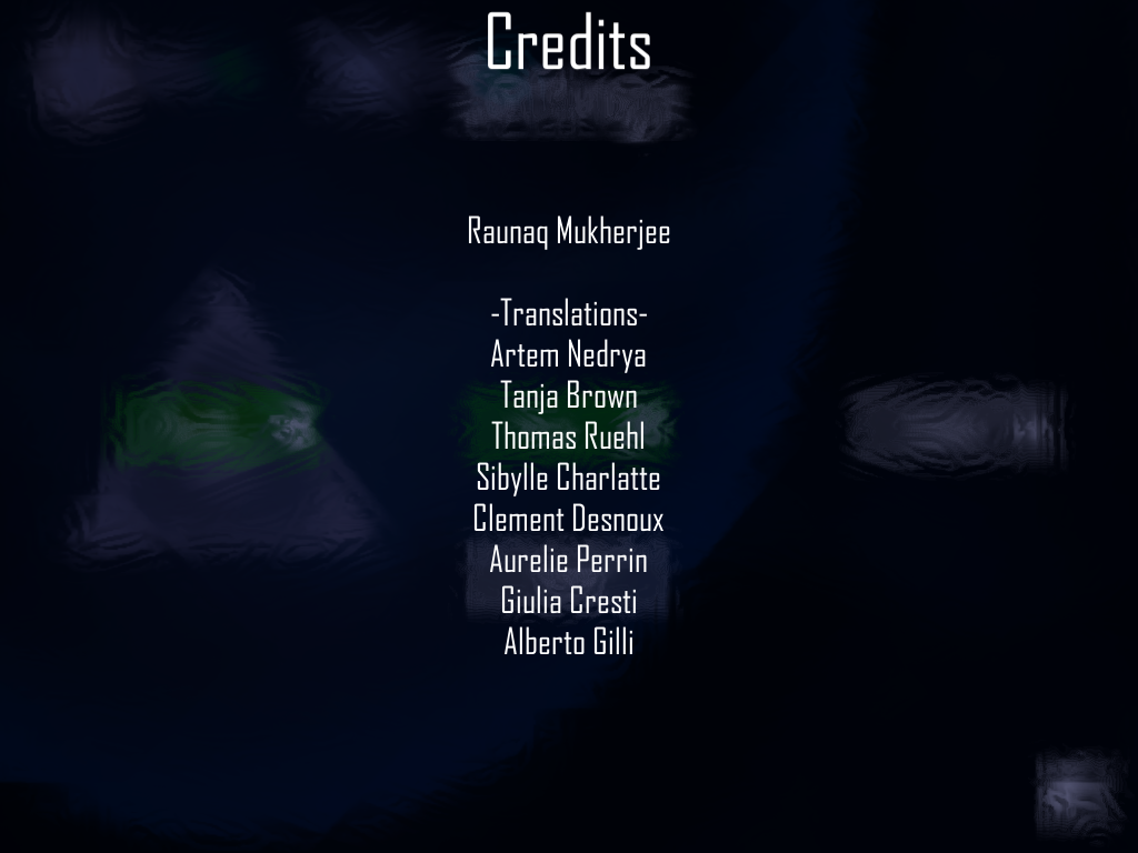Credits for Tale of Prisso (video game, EN-RU, UK)