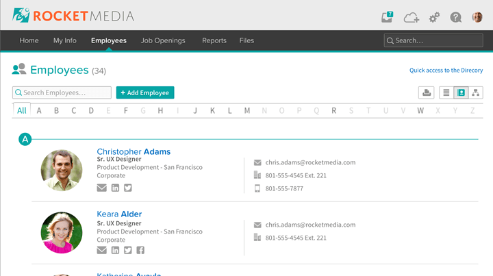 Employee Database and Records - Master employee data. Healthcare data for compliance? Check. Contact information for the employee directory? Check.