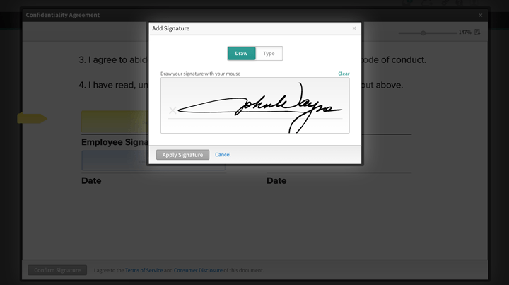 Electronic Signatures - Save time, money, and trees with esignatures. Remove the hassle of distributing and collecting signed paperwork.
