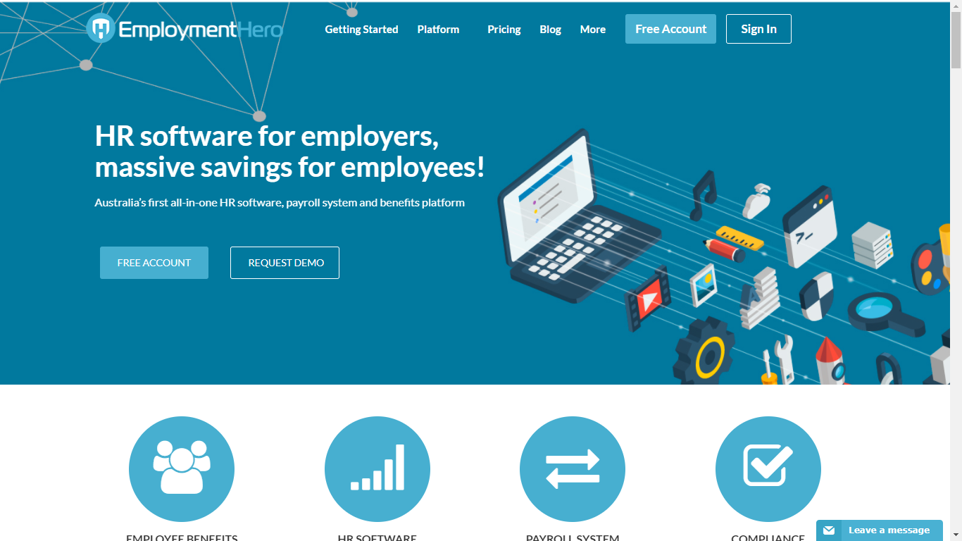 Employment Hero is a leading HR software platform in Australia, which also has a robust employee benefits program.