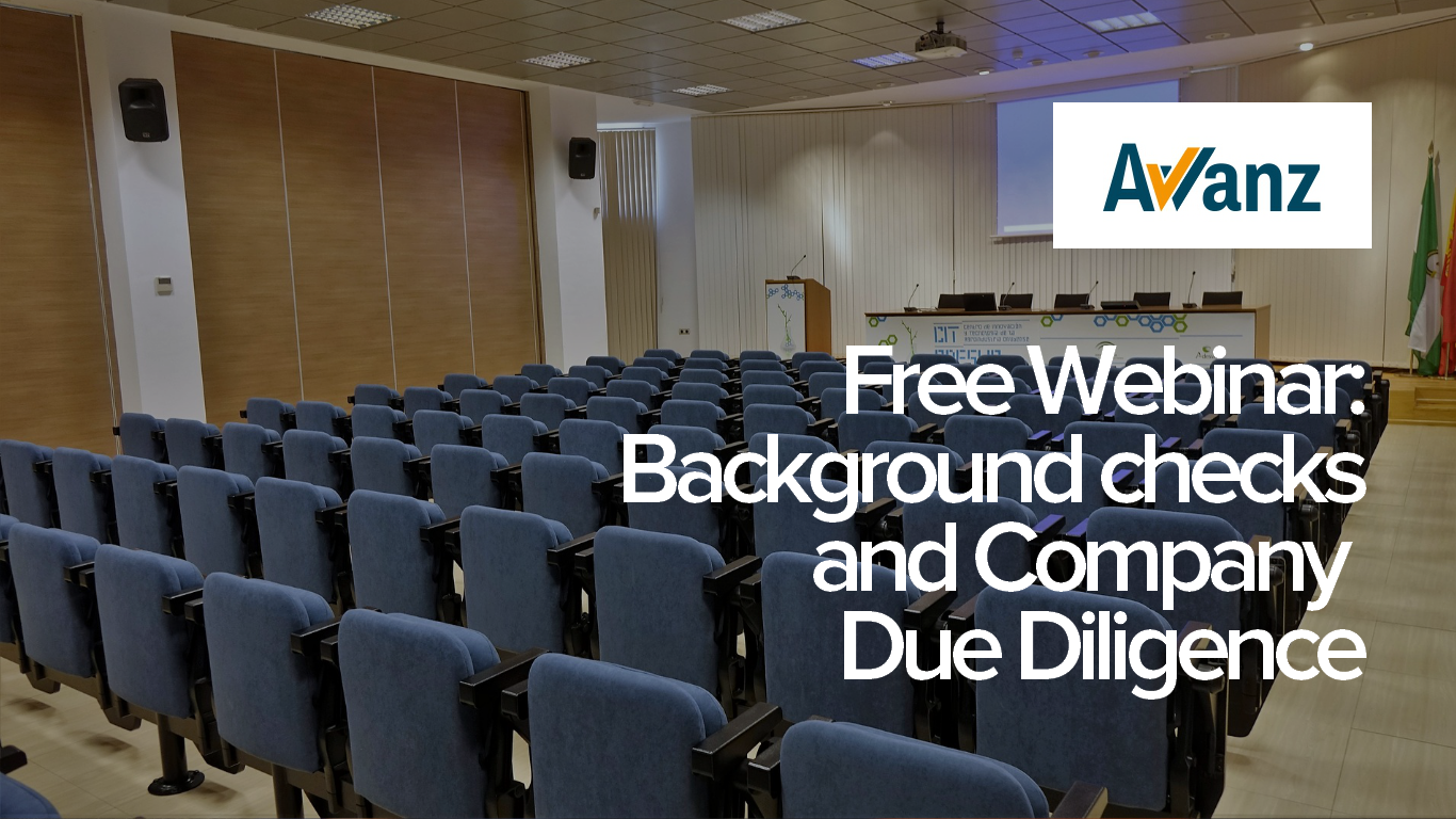 - This is a free webinar on background checks and due diligence on prospective employees, conducted by Avvanz, a leading provider of background checks and predictive assessments.For more info on Avvanz, click here.