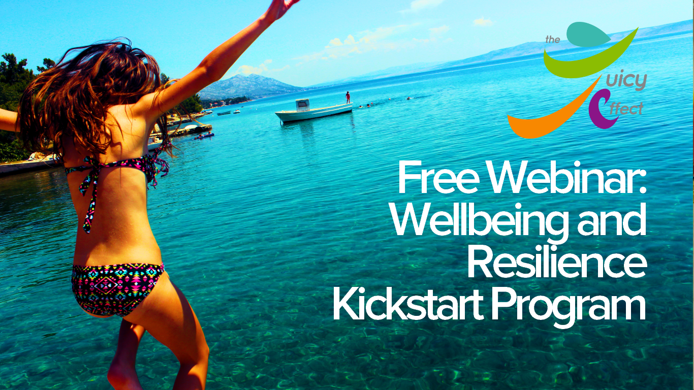 - Welcome to your FREE wellbeing & resilience kickstart program. In less than 40 minutes, you will have the knowledge you need to reclaim control of your own wellbeing journey.To know more about the Juicy Effect,click here.