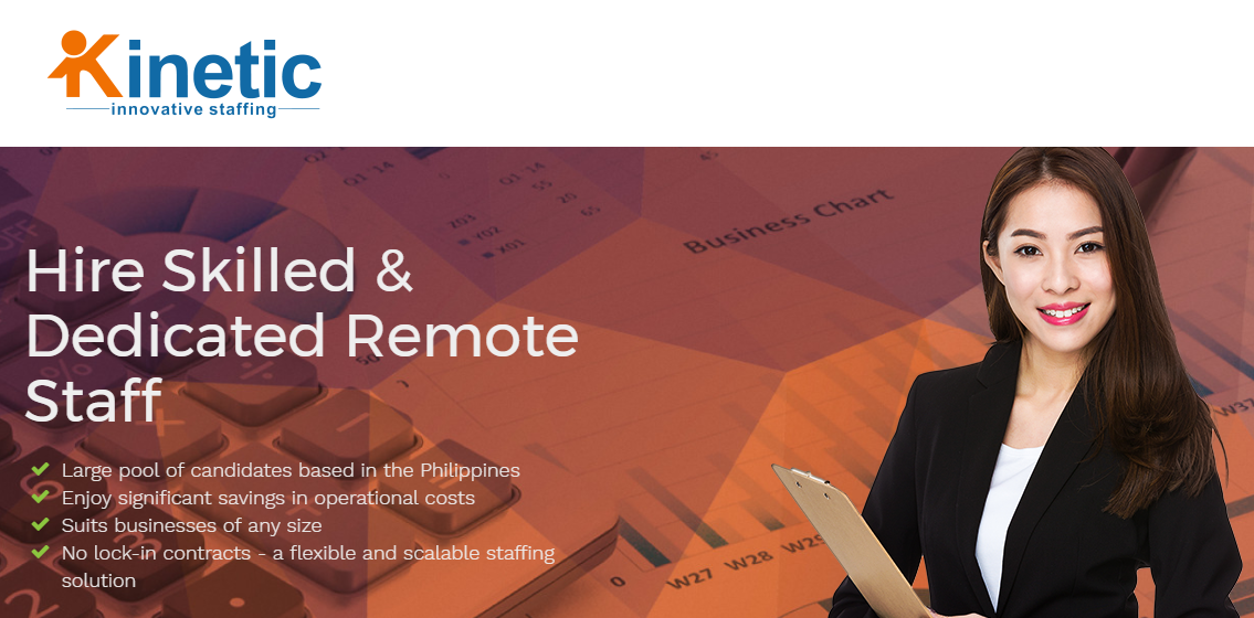 Kinetic is a leading outsourcing company providing dedicated remote staff and offshore staffing services.