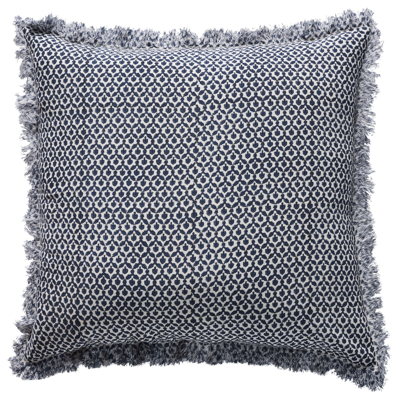 milieu field cushion - hand printed in classic navy