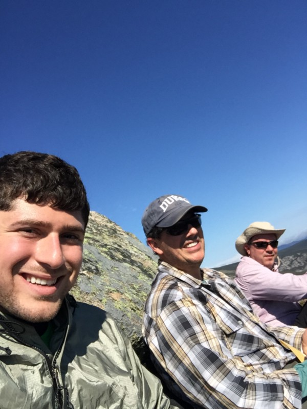 Katahdin cliffside with Paul and Justin.