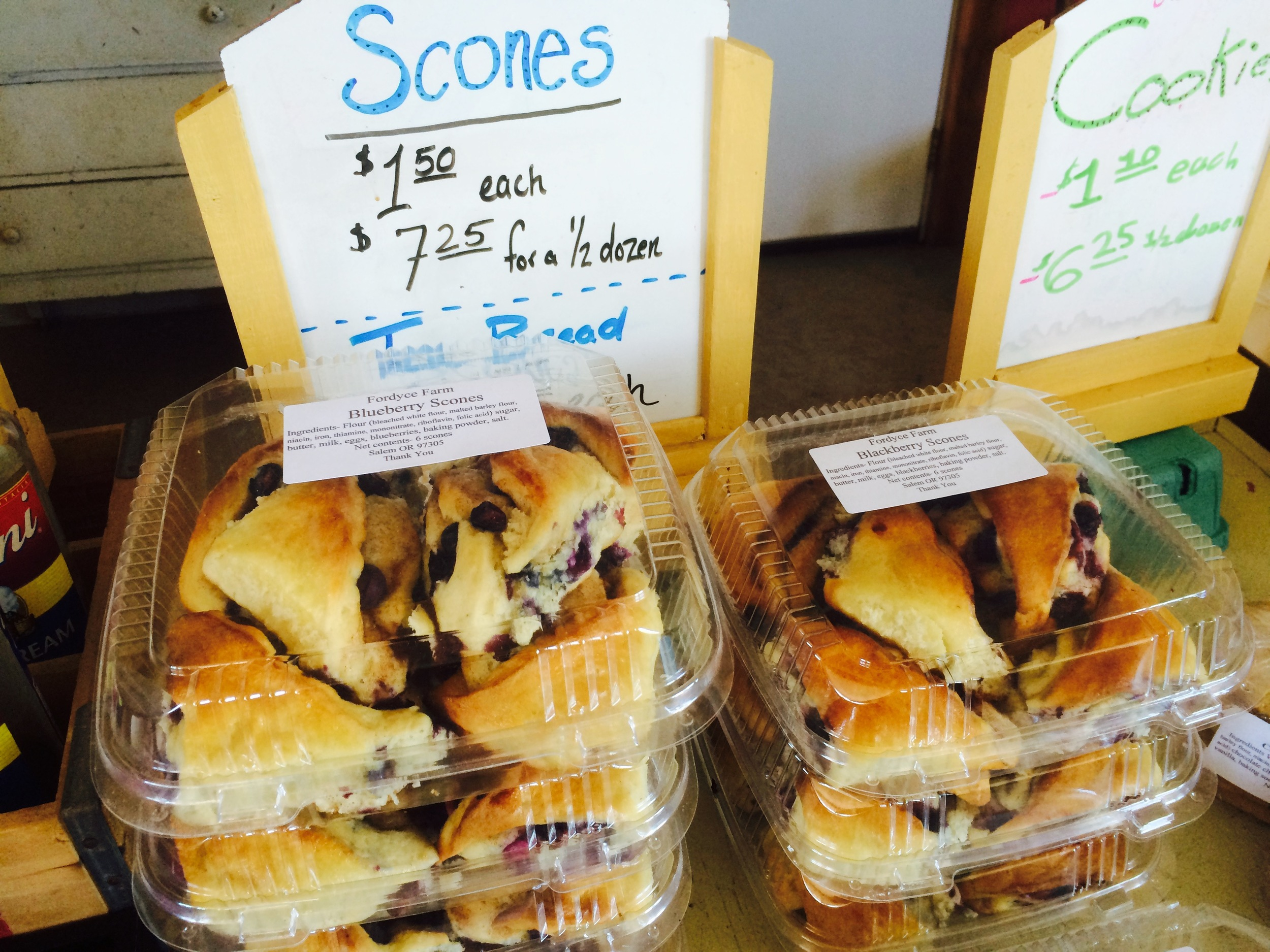 Get some fresh, farm-made scones for breakfast!