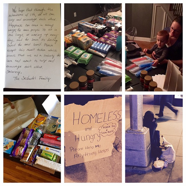 Care Package for the Homeless. This one went out to our new friend Ashley who we met in midtown Manhattan. More details on giving to Ashley on Facebook.