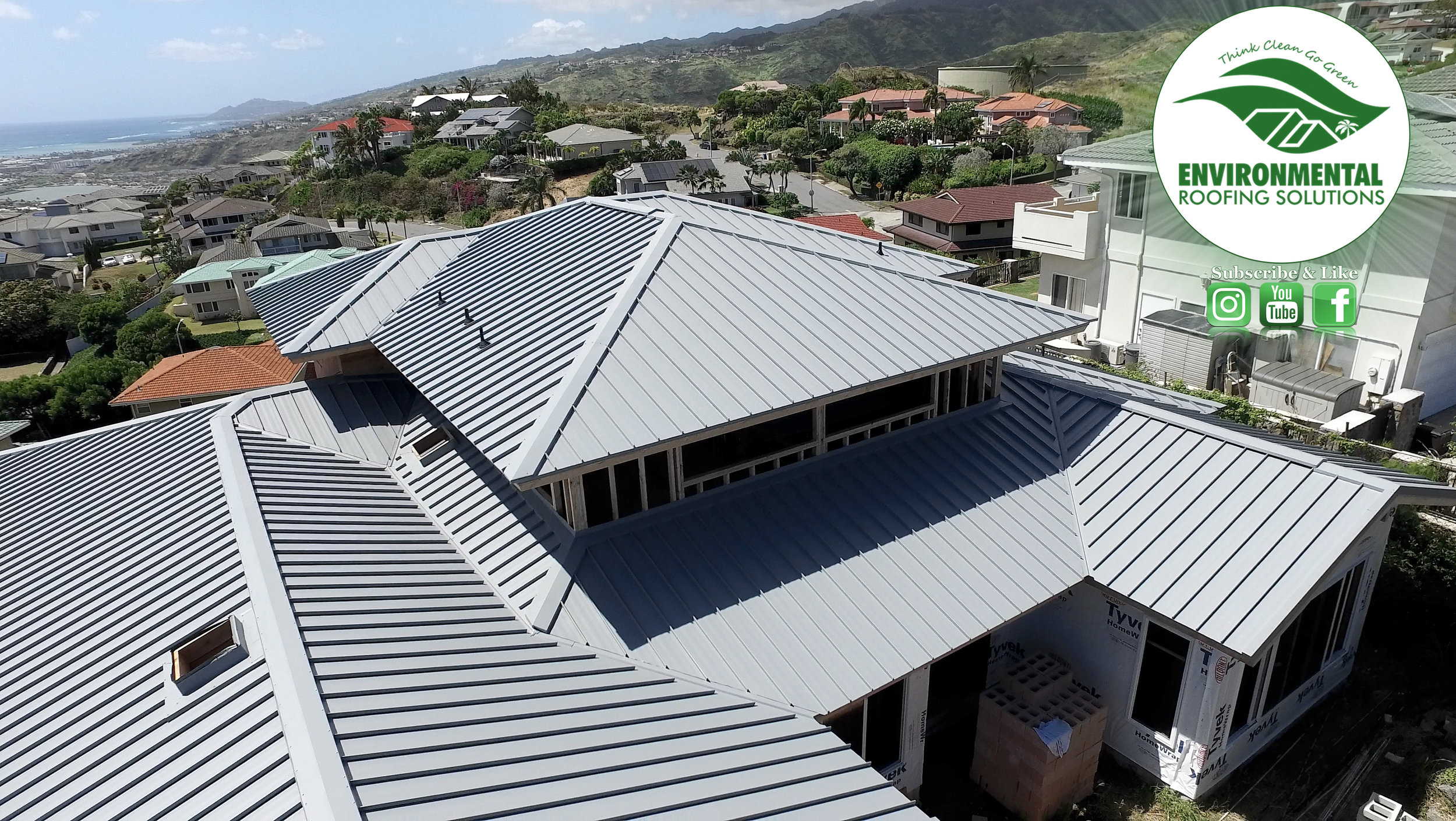 STANDING SEAMINSTALL BY ENVIRONMENTAL ROOFING SOLUTIONS
