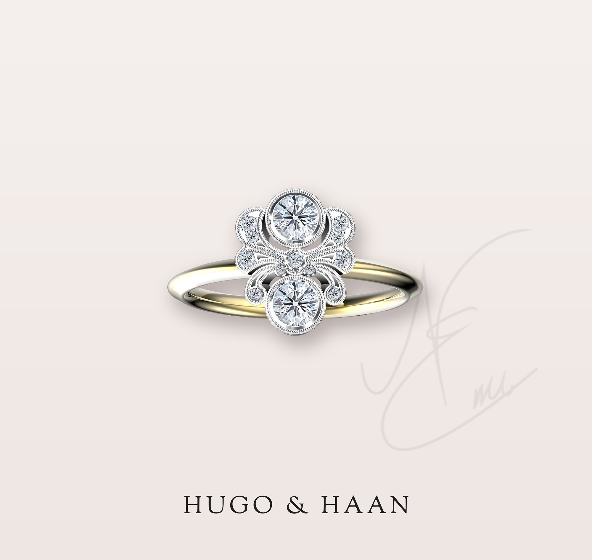 THE VINTAGE - Floral inspired and dainty, this rings is for the romantic brides out there.