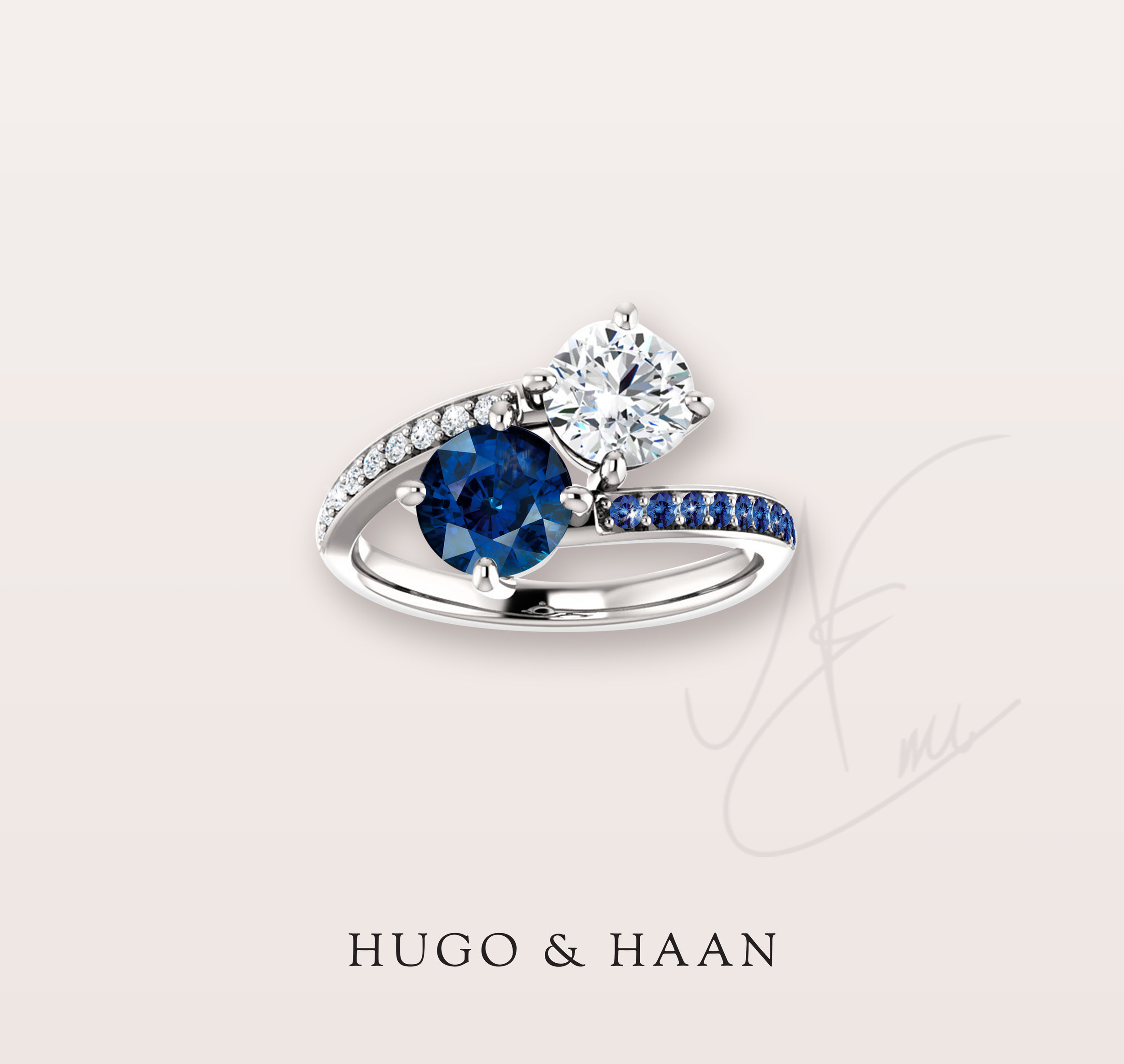 THE ROYAL - Still a classic but with a twist of the royal blue of the sapphires