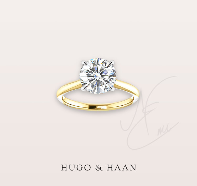 THE CLASSIC SOLITAIRE - Four claws, a delicate gold band and a breathtaking brilliant cut diamond - something that will truly stand the test of time.